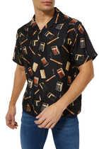 Dupont Falling Print Bowling Shirt
