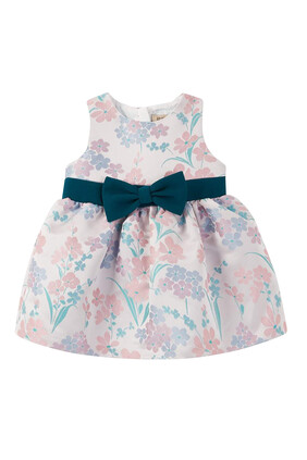 Bow Belt Bodice Dress and Bloomers, Set of 2