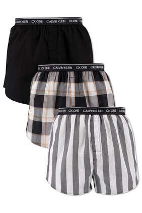 CK One Slim Fit Boxers, Pack of 3