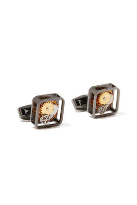16GB USB Rhodium Cufflinks