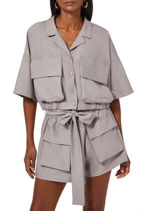 Karen Cropped Utility Shirt