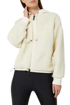 Drawstring Hood Ivory Sweatshirt
