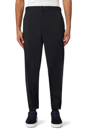 Straight Leg Virgin Wool Joggers