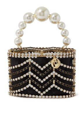 Holli Chevron Embellished Bag