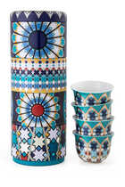 Musée Sursock Vitrail Tin Box With Cups, Set of Four