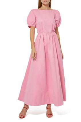 Alix Open-Back Brushed Faille Maxi Dress