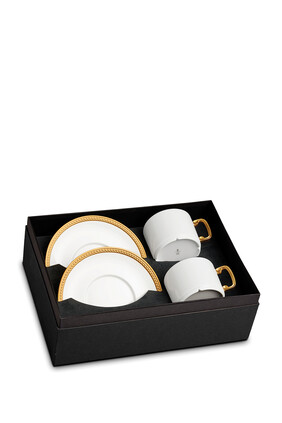 Soie Tressée Tea Cup and Saucer Set of Two