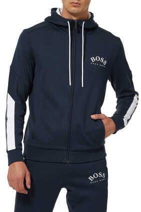 Saggy Zipped Hooded Jacket