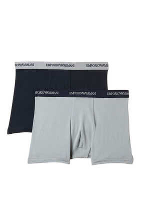 Cotton Stretch Boxers, Pack of Two