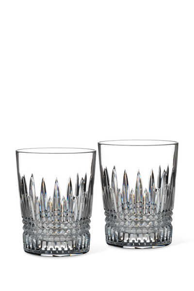 Lismore Diamond Tumbler Glasses Set of Two