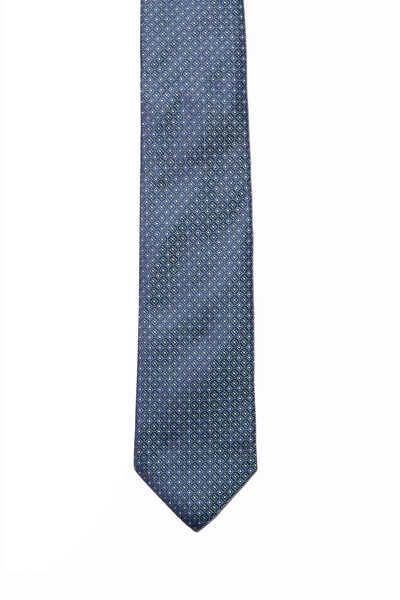 Circle Print Silk Tie
