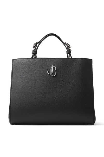 Black City Grainy Calf Leather Large Tophandle Handbag Varenne Top Handle L