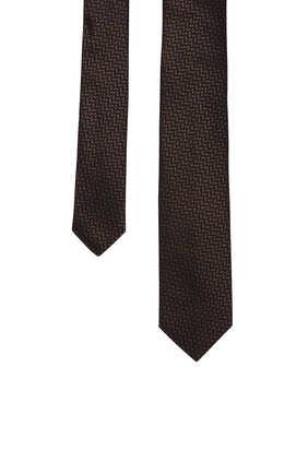 Geometric Jacquard Silk tie