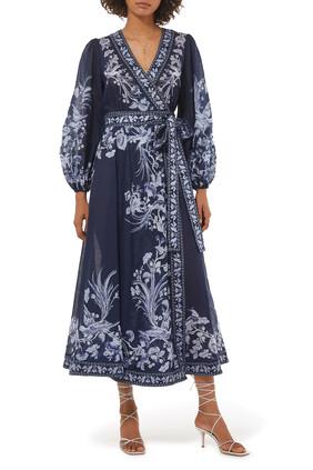 Aliane Long Wrap Dress
