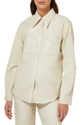 Paloma Vegan Leather Shirt