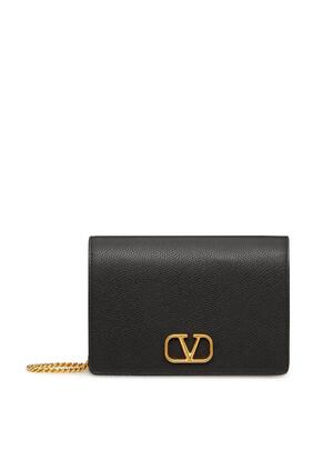 Valentino Garavani VLogo Leather Pouch