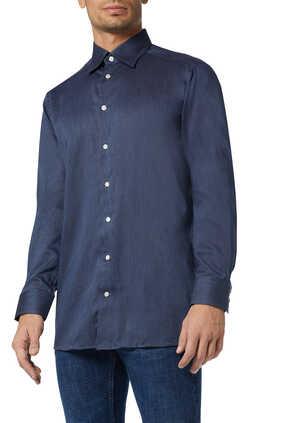 Contemporary Fit Herringbone Flannel Shirt