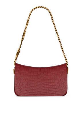 Elise Croc-Embossed Bag