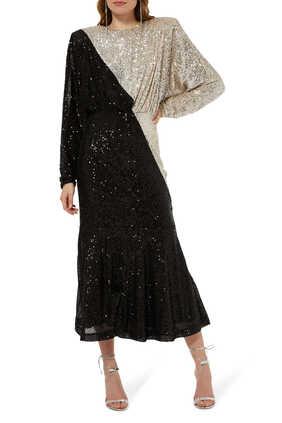 Billie Two-Toned Midi Dress