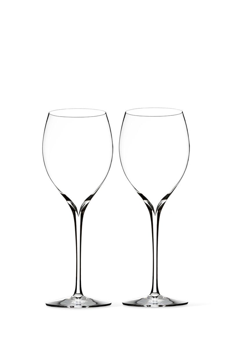 Elegance Chardonnay Crystal Wine Glass Set of Two image number 1