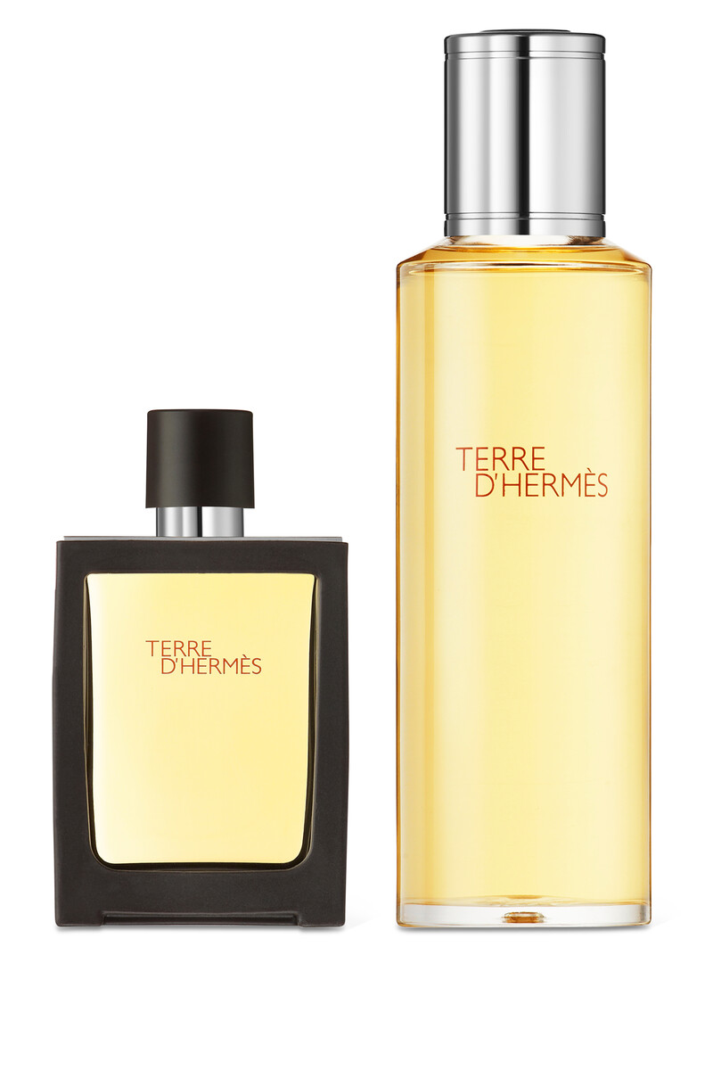 Terre d'Hermès, Parfum, 30ml Travel Spray and 125ml Refill image number 1