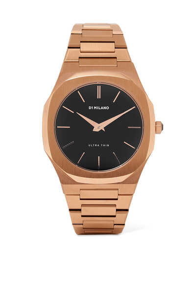 Rose-Gold Stainless Steel Ultra Thin Watch