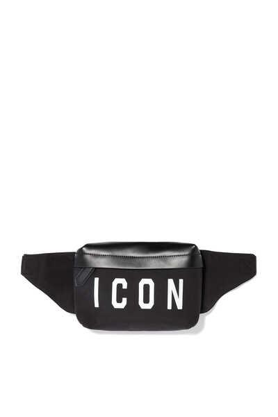 Icon Print Nylon Belt Bag