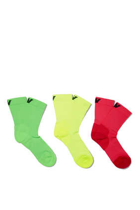 Fluo Sports Socks, Pack of 3