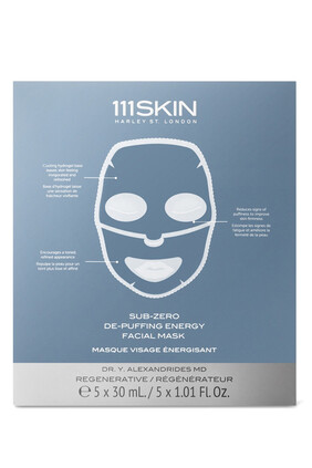 Sub Zero De-Puffing Energy Mask, Pack of 5