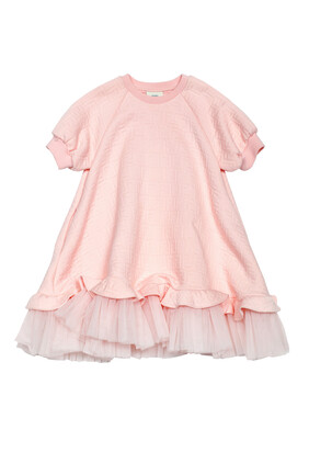 Logo Ruffle Dress