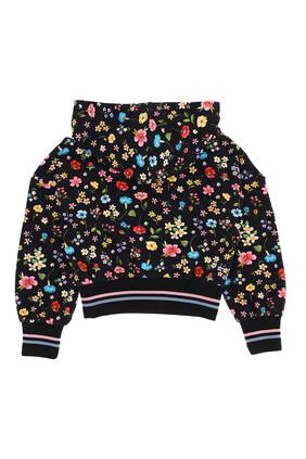 Floral Hooded Sweatshirt