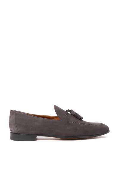Grey Tassel Loafers