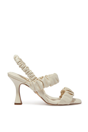 Marlena Ruched Strap Sandals