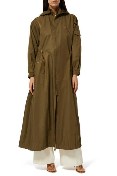 Nadjat Hooded Long Raincoat