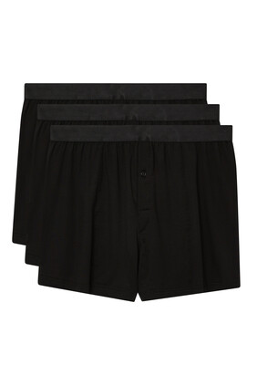 Three-Pack Stretch-Lyocell Boxer Shorts