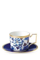 Hibiscus Teacup and Saucer