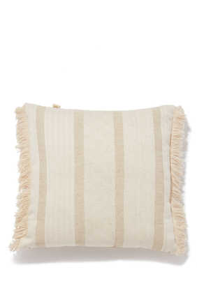 Striped Square Cushion