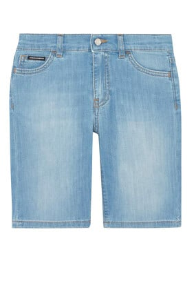 Adjustable Denim Shorts