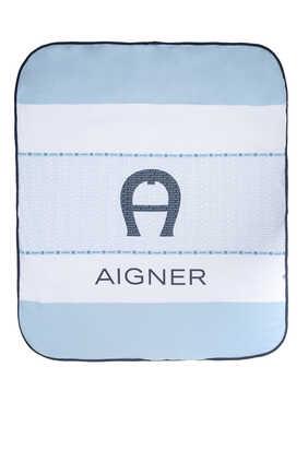 Logo Print Padded Blanket