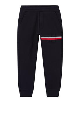 Striped Cotton Jogging Pants