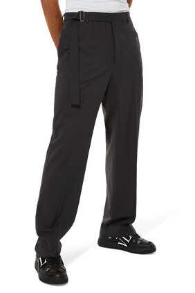 Tie Detail Wool Pants