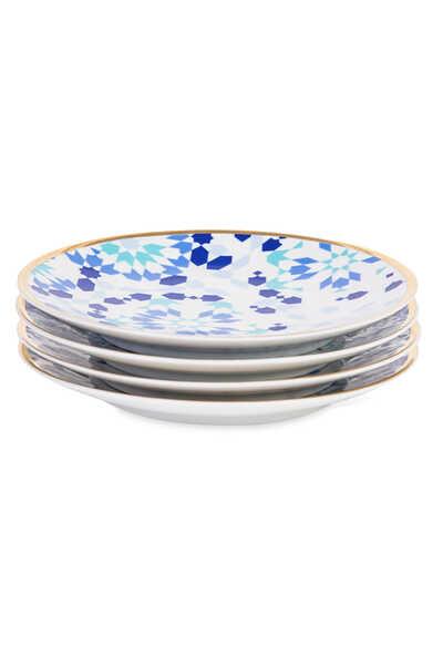 Mirrors Dessert Plates, Set of Four