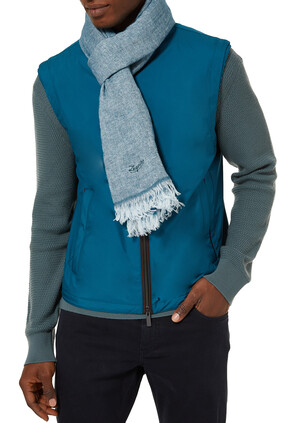 Linen Scarf With Fringe