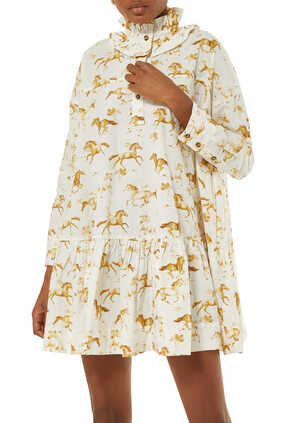 Horse Print Oversized Dress