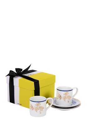Kunooz Espresso Cups and Saucers Gift Box