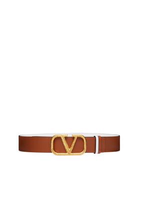 Valentino Garavani VLogo Reversible Leather Belt