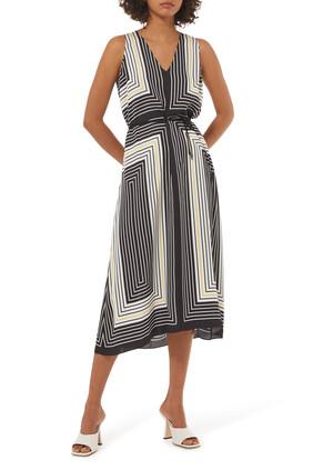 Stripe Drape Dress