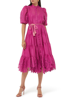 Teddy Scallop Frill Dress