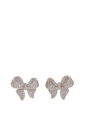 Puffy Bow Stud Earrings