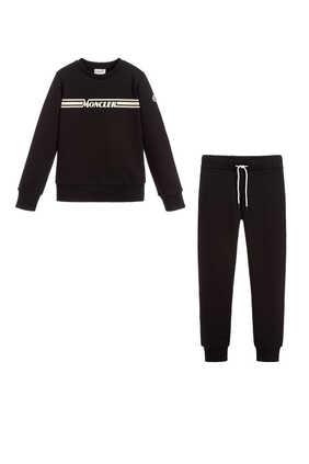 Logo Sweatshirt And Track Pants Set
